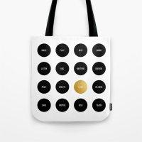 Polka Dot To Do List Tote Bag