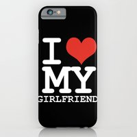 iPhone & iPod Case featuring I love my girlfriend by WAMTEES