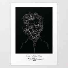 edgarBlack Art Print