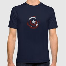 Cap's Shield Mens Fitted Tee Navy SMALL