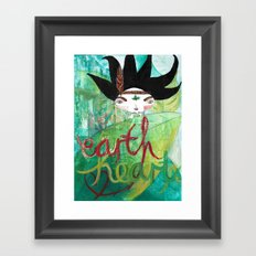 Eart(H)eart Framed Art Print