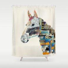 the mod horse Shower Curtain