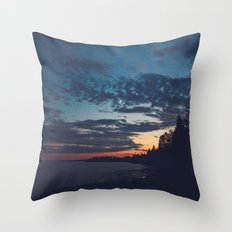 superior sunsets. Throw Pillow