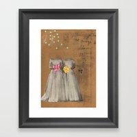 The Two Bettys Framed Art Print