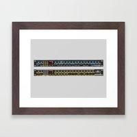 Novation Bass Station and Drum Station Framed Art Print