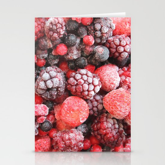 Frozen Berries Stationery Card