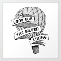 Look For The Silver Lini… Art Print