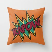 Kapow Throw Pillow