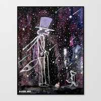 Dandy Fox And The Long W… Canvas Print