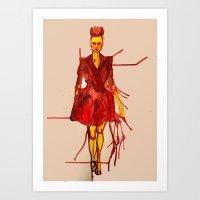 Models Ink 12 Art Print