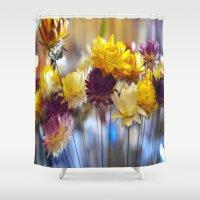 Straw flowers Shower Curtain