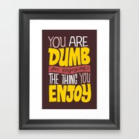 Internet Comments Framed Art Print