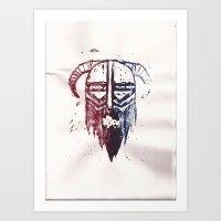Brutal Viking Art Print