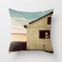 Desert House - Color Throw Pillow