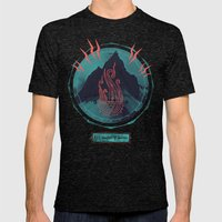 Mountain of Madness Mens Fitted Tee Tri-Black SMALL