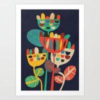 flowers Art Prints featuring Wild Flowers by Picomodi