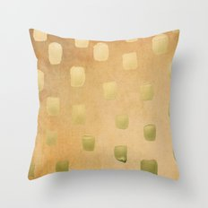 Golden Splotch Haze Throw Pillow