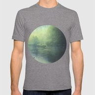 Mystic Haze Mens Fitted Tee Tri-Grey SMALL