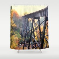 Upper Peninsula Train Trestle Shower Curtain