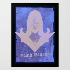 Death Penalty gig poster Art Print