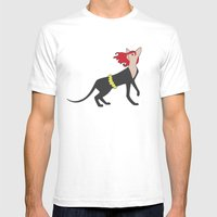 BlackCat Widow Mens Fitted Tee White SMALL