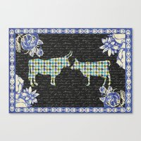 Houndstooth Cows (A Love… Canvas Print