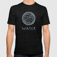 Avatar Last Airbender - Water Mens Fitted Tee Tri-Black SMALL