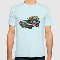 A trip by car Mens Fitted Tee Light Blue SMALL
