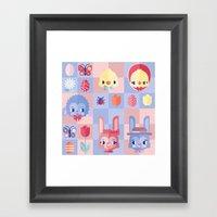 Happy Easter! Pattern Framed Art Print