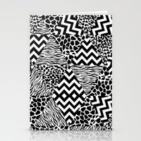 Wild Fashion Monochrome Stationery Cards