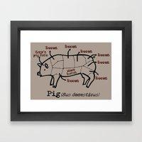 Bacon LOver Framed Art Print