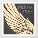 Isaiah 40:31 Wings like Eagles Art Print
