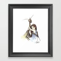 My Mantis Friend Framed Art Print