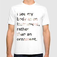 I See My Body As An Inst… Mens Fitted Tee White SMALL