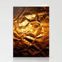 Golden Wrapper Stationery Cards