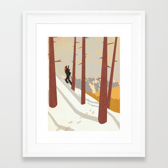 I would be... an explorer  Framed Art Print