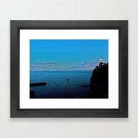 Sunrise On Amalfi  Framed Art Print