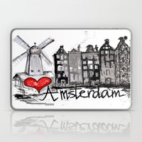 I love Amsterdam Laptop & iPad Skin