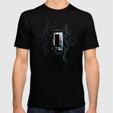 Enchanted Window no.3 Mens Fitted Tee Black SMALL