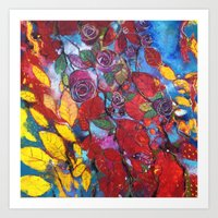 Roses garden Art Print