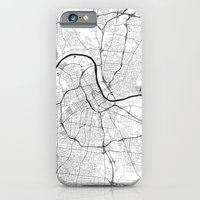 iPhone Cases featuring Nashville G by City Map Art