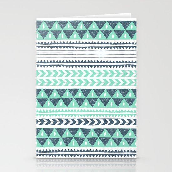 Winter Stripe Stationery Card
