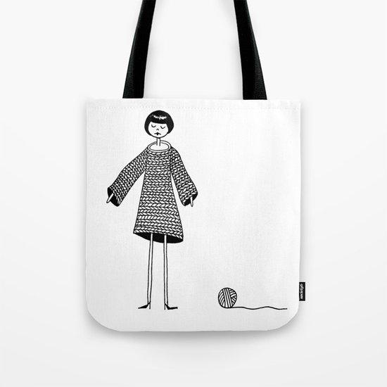 Knitting, gone awry. Tote Bag