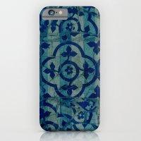 mosaic in cyan iPhone 6 Slim Case