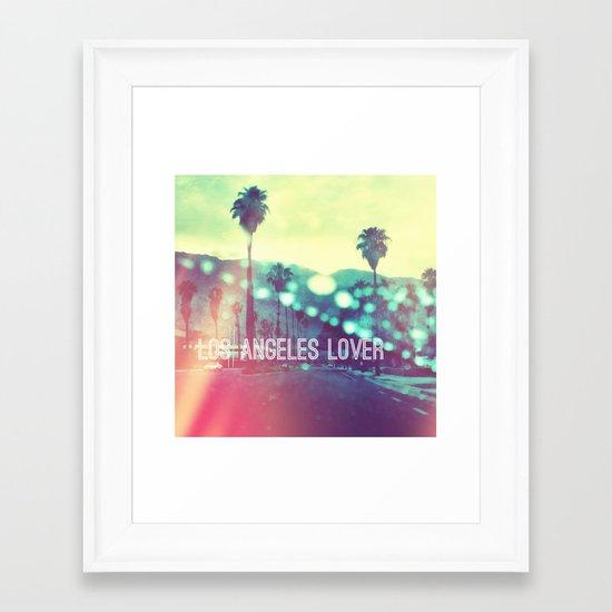 LA Lover Framed Art Print