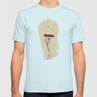betty Mens Fitted Tee Light Blue SMALL