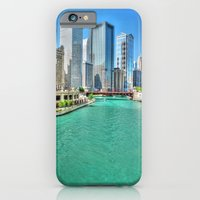 iPhone & iPod Case featuring Downtown Chicago by Claude Gariepy