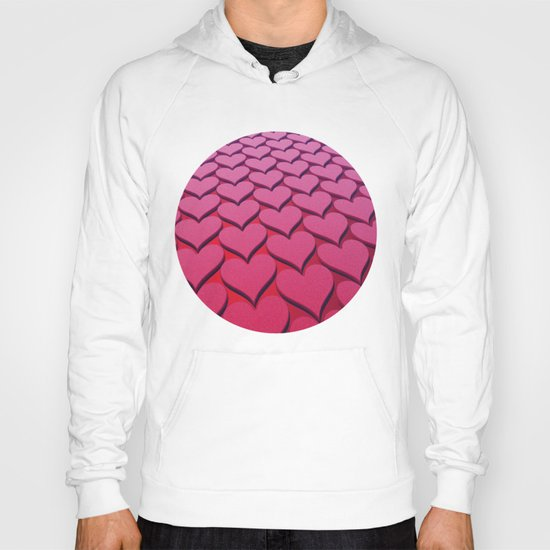 Textured 3D Heart Pattern Hoody