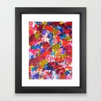 Floral Drip Framed Art Print