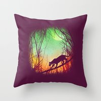 Through The Brush Throw Pillow